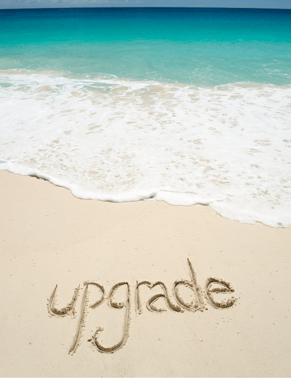 Upgrade with beach